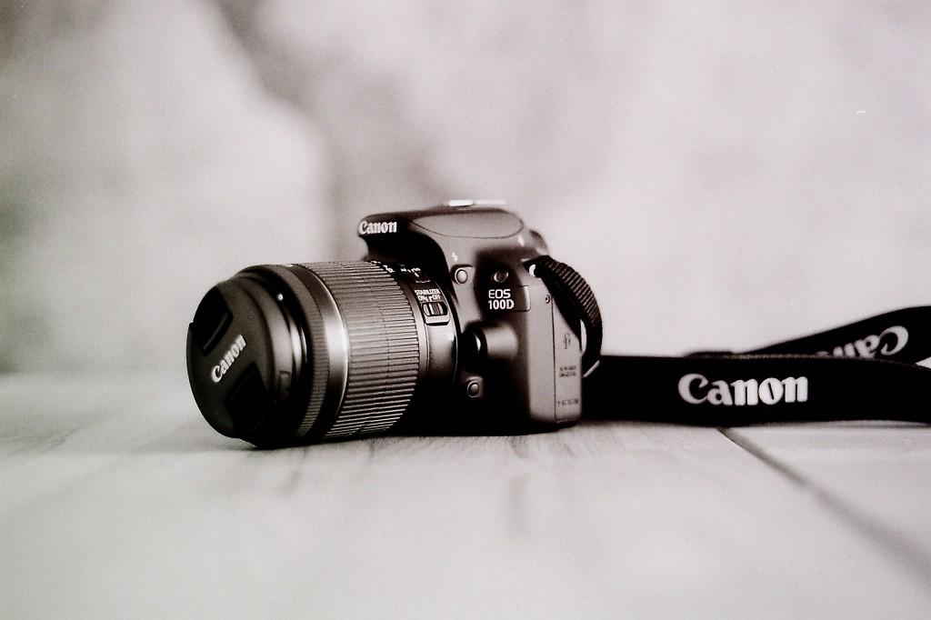 SW-Bild einer Canon 100D